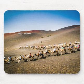 Kamel-Zug in Lanzarote Mousepad