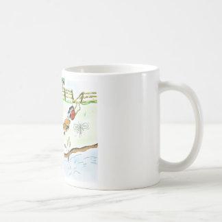 Kamera, die einen Moskito jagt Kaffeetasse