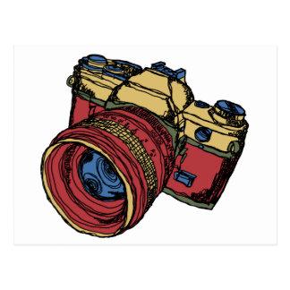Kamera-Entwurf des Klassiker-35mm SLR Postkarte