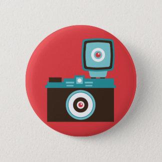 Kamera-Fotograf Spaß-bunter Dianas Lomo Runder Button 5,7 Cm