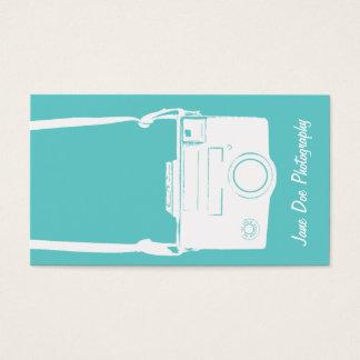 Kamera-Fotografie-aquamariner blauer Vintager Visitenkarte