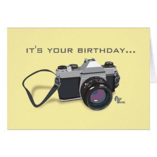 Kamera-Geburtstags-Karte Karte