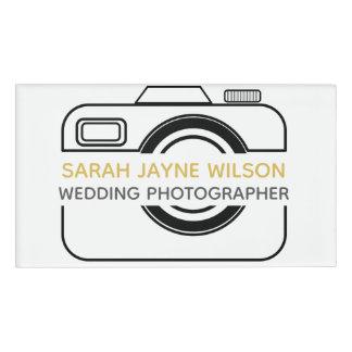 Kamera-Ikonen-Hochzeits-Fotograf-Namensschild Namenschild
