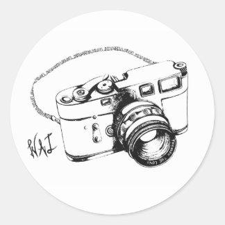 Kamera Klub (Aufkleber) Runder Aufkleber