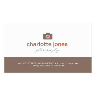 Kamera-Liebe-Fotografie-Geschäfts-Karten Visitenkarten
