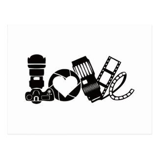 Kamera-Liebe Postkarte