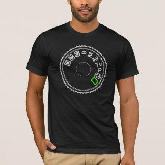 Kamera-Modus-Skala-Silber-Grün T-Shirt