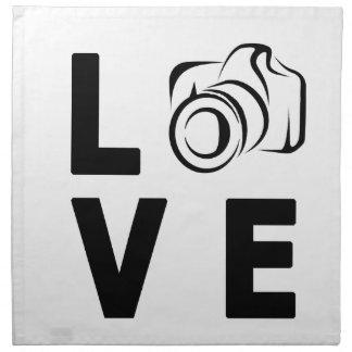 Kamera und Liebe Serviette