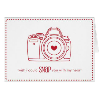 Kamera-Valentinstag-Karte - lustig im Rot Karte