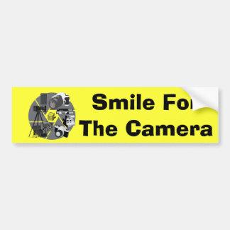 Kamera-Zeit-Collage Autoaufkleber