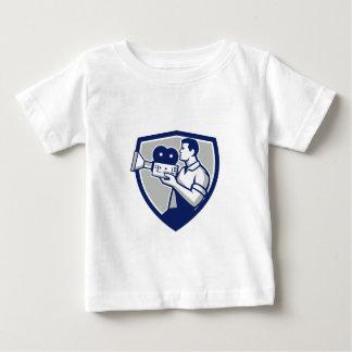 Kameramann, der Vintages Film-Kamera-Wappen Retr Baby T-shirt
