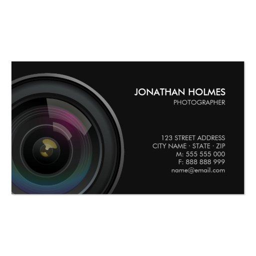 Kameraobjektiv-Fotograf-Visitenkarte