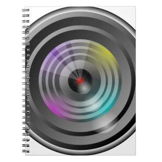 Kameraobjektiv Notizblock