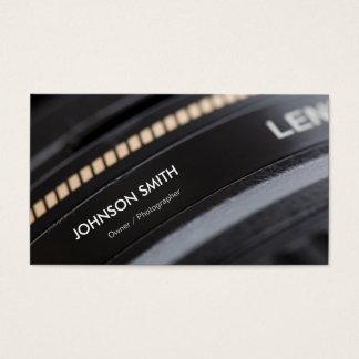 Kameraobjektiv-Speicher - Schwarzweiss-Fotograf Visitenkarten