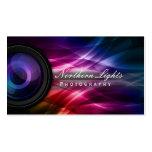Kameraobjektiv-u. Aurora-Fotografie-Visitenkarten