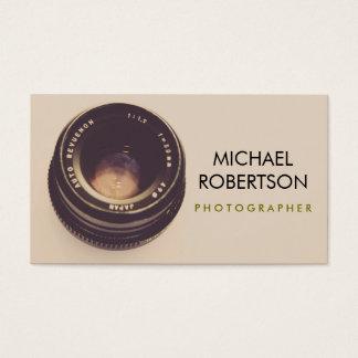 Kameraobjektiv-Visitenkarte Visitenkarte