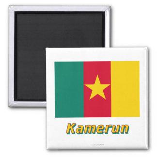 Kamerun Flagge MIT Namen Magnete