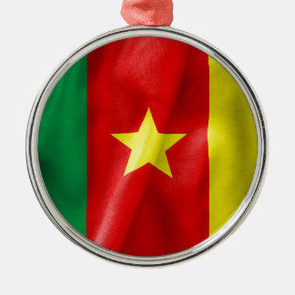 Kamerun-Flagge Silbernes Ornament