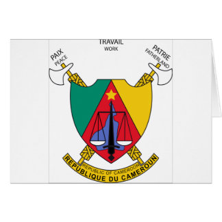 Kamerun-Wappen Karte