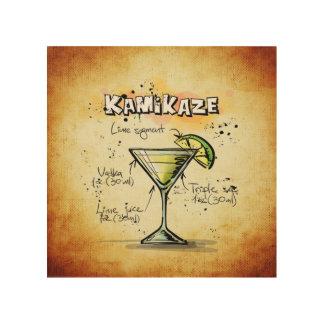 Kamikaze-Cocktail-Rezept Holzdrucke