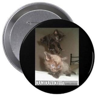 Kamikaze-Miezekatze-Knopf Runder Button 10,2 Cm
