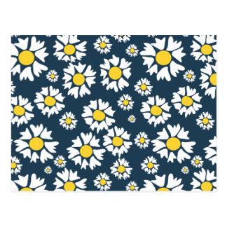 Kamillen-Blumenmuster Postkarte