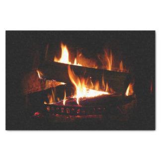 Kamin-warme Winter-Szenen-Fotografie Seidenpapier