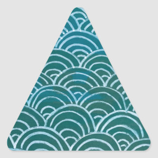 Kamm-Muschel Dreieckiger Aufkleber