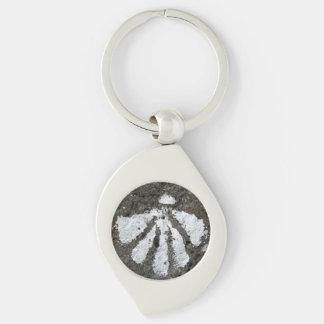 Kamm-Muschel-Muschel-Halskette Schlüsselanhänger