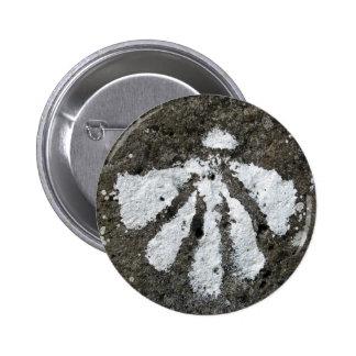 Kamm-Muschel-Muschel-Knopf Runder Button 5,7 Cm