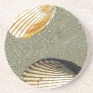 Kamm-Muschel-Muscheln Sandstein Untersetzer