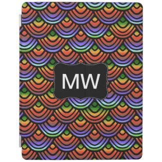 Kamm-Muschel-Skala-Muster-tropisches Monogramm iPad Hülle