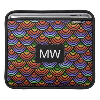 Kamm-Muschel-Skala-Muster-tropisches Monogramm Sleeve Für iPads