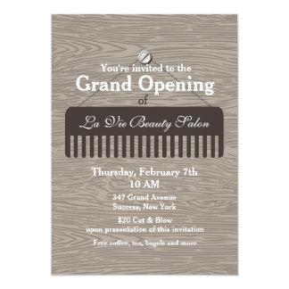 Kamm-Zeichen-Salon-Eröffnungs-Mitteilung 12,7 X 17,8 Cm Einladungskarte