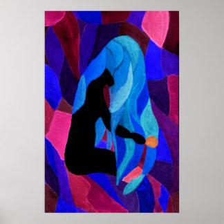 Kämmen des Wellen-Dunkelheits-Plakats Poster