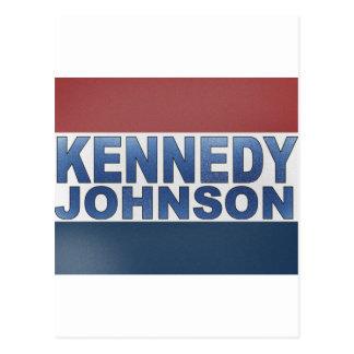 Kampagne Kennedys Johnson Postkarte