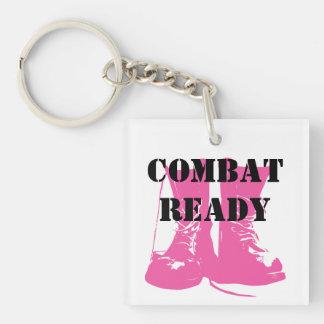 Kampf-bereite rosa Militärstiefel Schlüsselanhängern