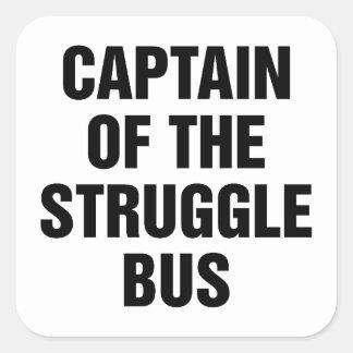 Kampf-Bus Quadratischer Aufkleber