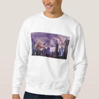 Kampf der Katzen Sweatshirt