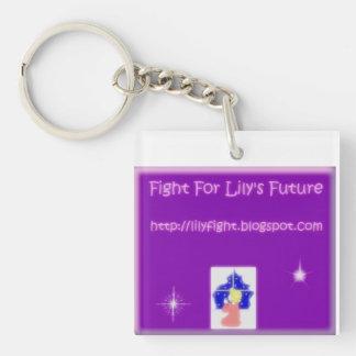 Kampf für die Zukunft der Lilie Einseitiger Quadratischer Acryl Schlüsselanhänger