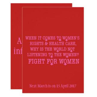 Kampf für Frauen 12,7 X 17,8 Cm Einladungskarte