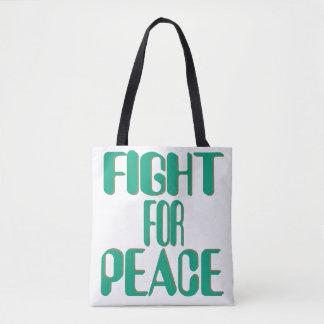 Kampf für Frieden - militante Pazifisten Tasche