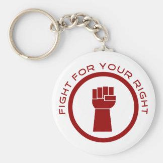 Kampf für Ihr Recht Standard Runder Schlüsselanhänger