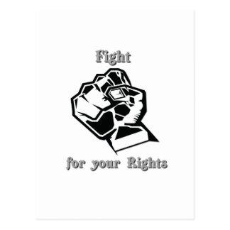 Kampf für Ihre Rechte Postkarte