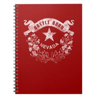 Kampf geboren - Nevada, Las Vegas. Flaggen-Logo Spiral Notizblock