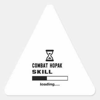 Kampf Hopak Fähigkeit Laden ...... Dreiecks-Aufkleber