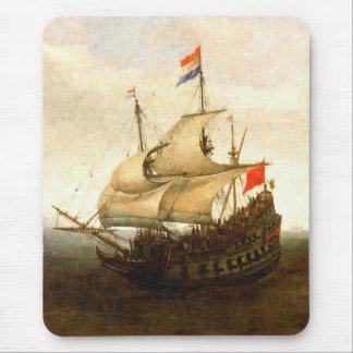 Kampf-Segelboot Mousepad