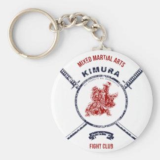 Kampf-VereinGrungedruck mit Samurai-Schwertern Schlüsselanhänger