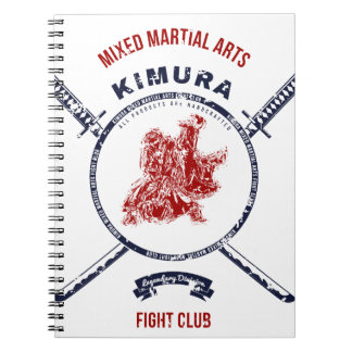 Kampf-VereinGrungedruck mit Samurai-Schwertern Spiral Notizblock