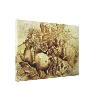 Kampf von Anghiari, Da Vinci, Vintage Renaissance Leinwanddruck